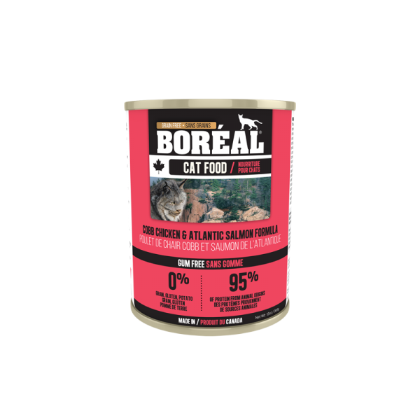 Boréal Cobb Chicken /Atlantic Salmon Formula Canned Cat Food 369g