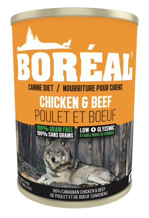 Boréal Cobb Chicken / Angus Beef Formula Canned Dog Food 369 G