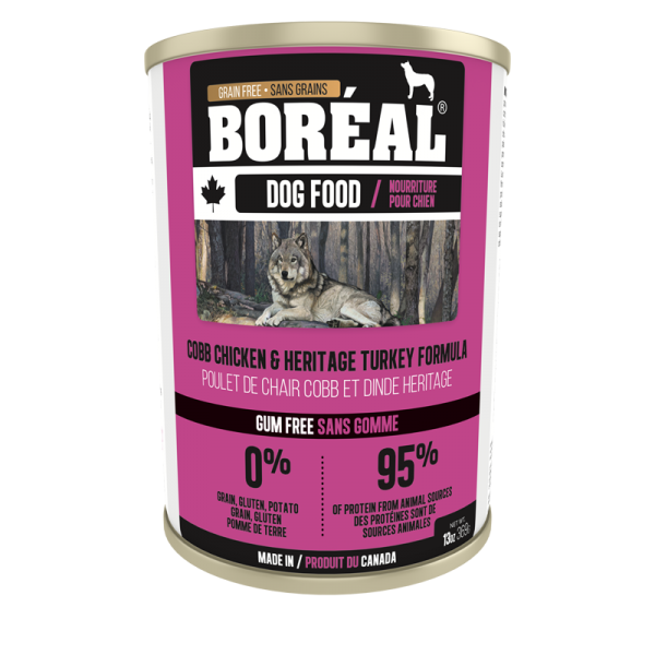 Boréal Cobb Chicken /Heritage Turkey Formula Canned Dog Food 369 G
