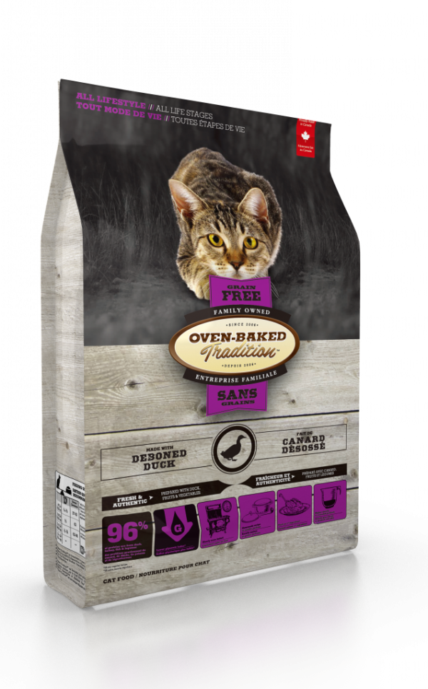 Oven Baked Tradition Grain free Duck Formula Cat Food 10lb