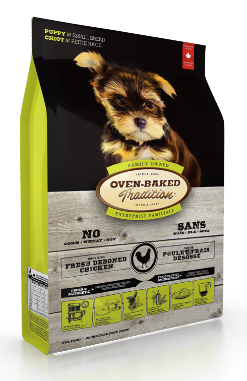 Oven Baked Tradition Small Breed Puppy Food 25lbs