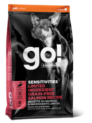 GO! SENSITIVITIES Limited Ingredient Grain Free Salmon recipe for dogs  22 lb