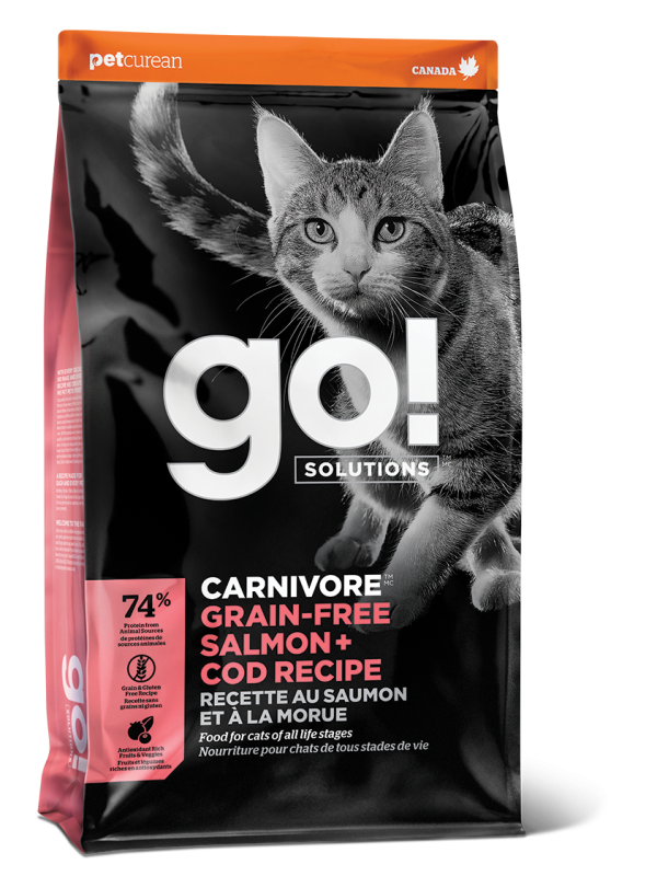 GO! CARNIVORE Grain Free Salmon + Cod Recipe for cats  16 lb