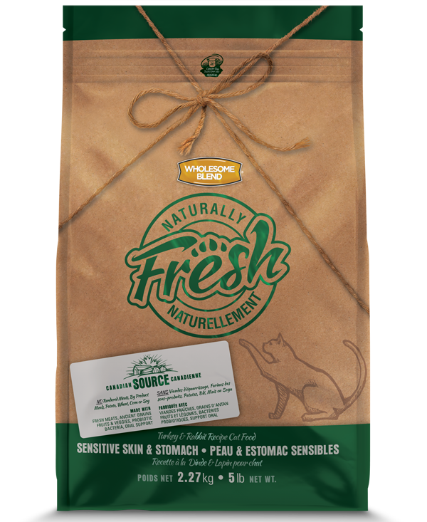 Wholesome Blend® Cats Naturally Fresh Turkey & Rabbit Sensitive Skin & Stomach 5kg
