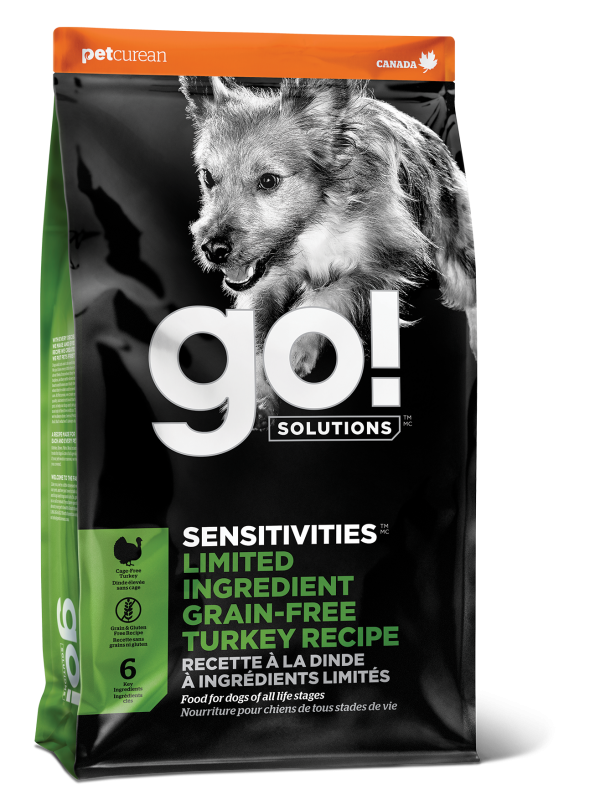 GO! SENSITIVITIES Limited Ingredient Grain Free Turkey recipe for dogs  22 lb