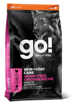 GO! SKIN + COAT CARE Grain Free Chicken Recipe for dogs  25 lb