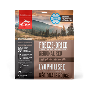 ORIJEN Regional Red freeze-dried dog food - Biologically Appropriate - 454g